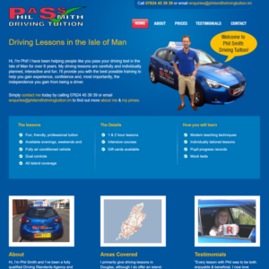 Driving instructor web design